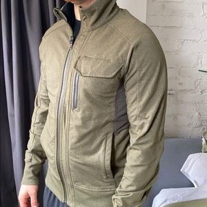 Lululemon Kung Fu jacket army green zip up